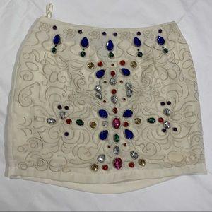 Ya Los Angeles colorful jewel skirt white small